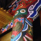 須弥壇上の彩色。古い彩色を再生していただきました。美しい。(通常は非公開)